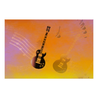 Flying High Guitar Poster