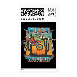 Flying High Motocross Postage Stamps