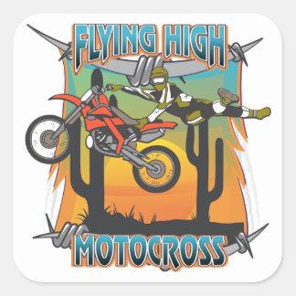 Flying High Motocross Square Sticker