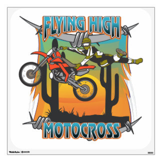 Flying High Motocross Wall Decal