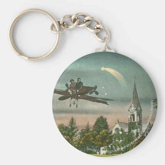 Flying High Over Old Chapel Keychain