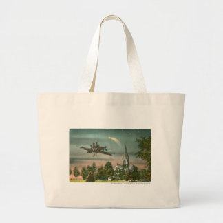 Flying High Over Old Chapel Tote Bags