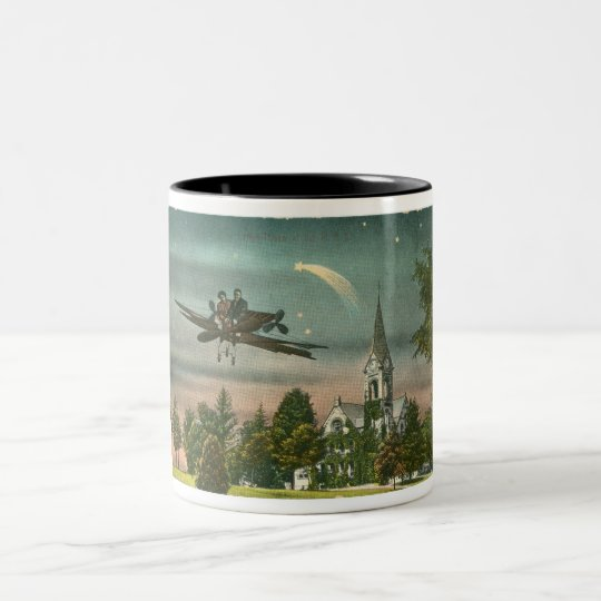 Flying High Over Old Chapel Two-Tone Coffee Mug