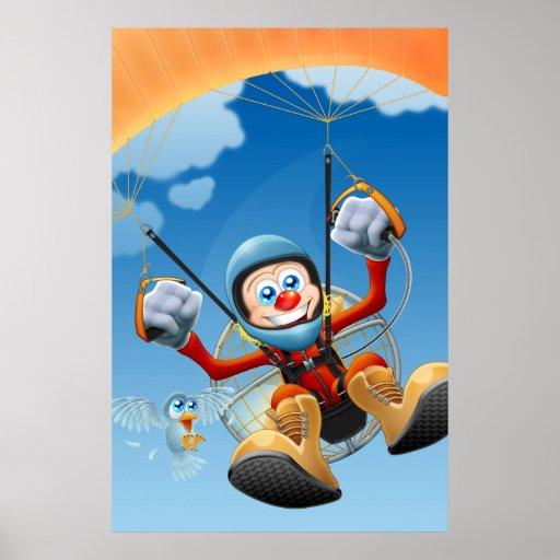 Flying High Paramotor Poster