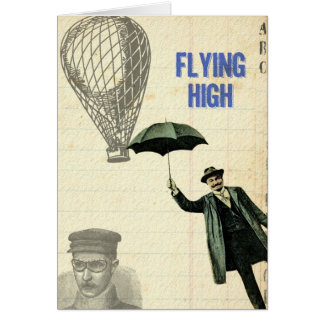 Flying High Steampunk Collage Card