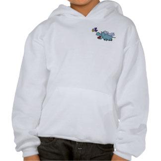 Flying Hippo & Bird Sweatshirts
