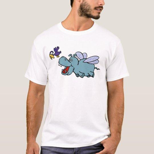 Flying Hippo & Bird T-Shirt