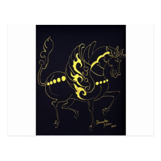 Flying Horse By Daniela Antar Power Postcard