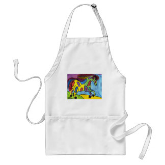 Flying Horse of the Rainbow Adult Apron