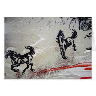 """Flying Horses"" Greeting Card"