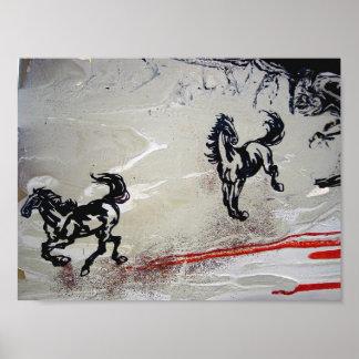 """""""Flying Horses"""" Poster"""