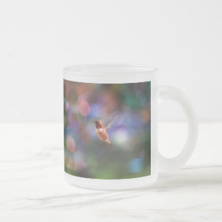 Flying Hummingbird and Colorful Background Mugs