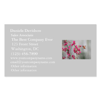 Flying Hummingbird and Flowers Business Card