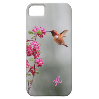 Flying Hummingbird and Flowers iPhone SE/5/5s Case