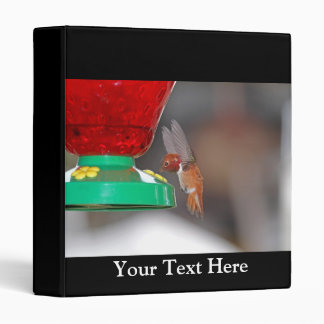 Flying Hummingbird and Hummingbird Feeder Binder