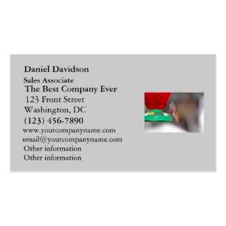 Flying Hummingbird and Hummingbird Feeder Business Card