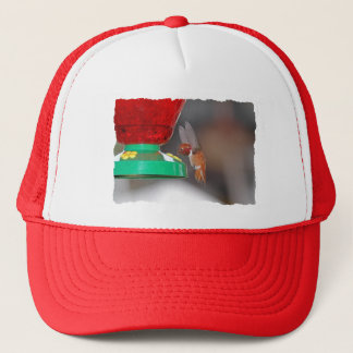 Flying Hummingbird and Hummingbird Feeder Trucker Hat