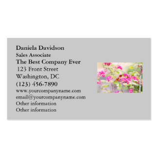 Flying Hummingbird and Red Currant Flowers Business Card
