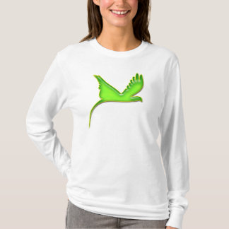 Flying hummingbird, birds eye view t-shirt