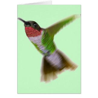 Flying Hummingbird Greeting Card