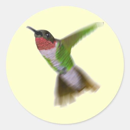 Flying Hummingbird Classic Round Sticker