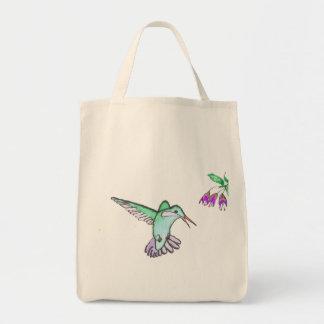 Flying Hummingbird Grocery Tote