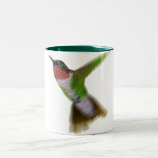Flying Hummingbird Two-Tone Coffee Mug