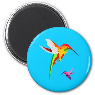 Flying Hummingbirds Fridge Magnet