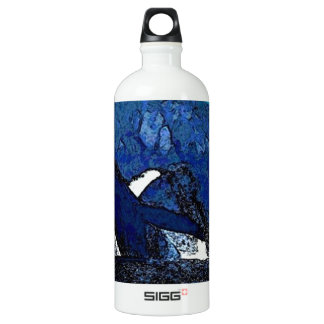 Flying Humpback Whale with heart SIGG Traveler 1.0L Water Bottle