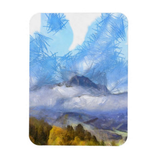 Flying ice in a storm over the Swiss Alps Rectangular Photo Magnet