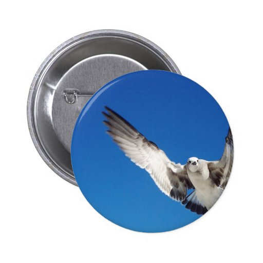Flying In 2 Inch Round Button