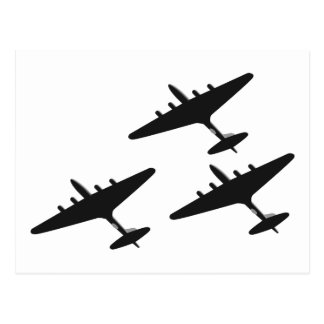 Flying in formation postcard