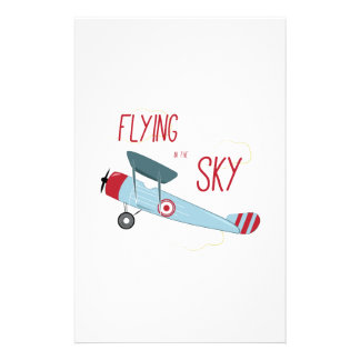 Flying in the Sky Stationery Design