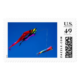 Flying in the wind postage