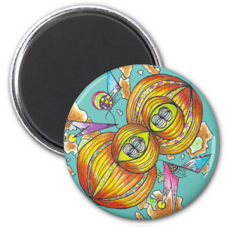 Flying infinity magnet.psychedelic butterfly. magnet
