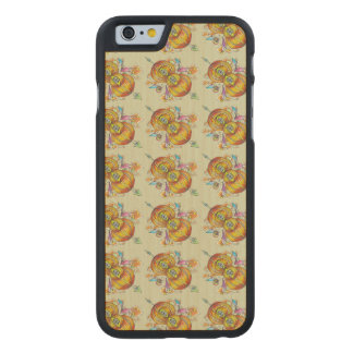 Flying infinity wood phone case with butterfly art