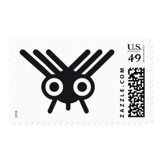flying insect design stamp