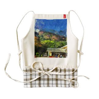 Flying into paradise zazzle HEART apron