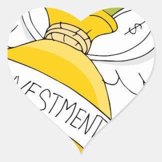 Flying Investment Bag Heart Sticker