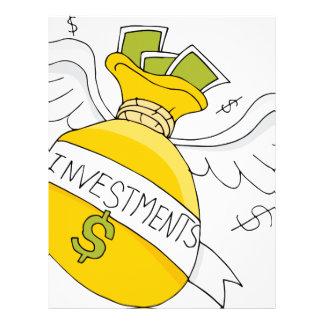 Flying Investment Bag Letterhead