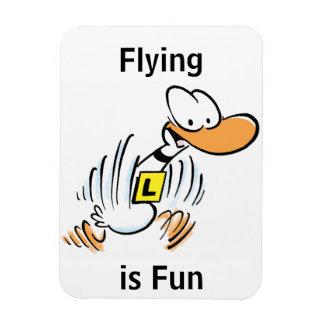 Flying is Fun Cartoon Magnet