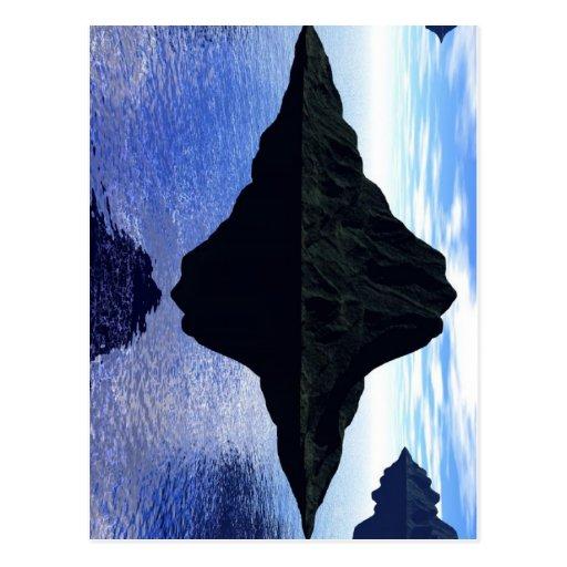 Flying islands postcard