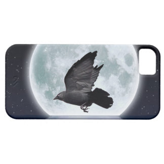 Flying Jackdaw, Crow-lover Design iPhone SE/5/5s Case