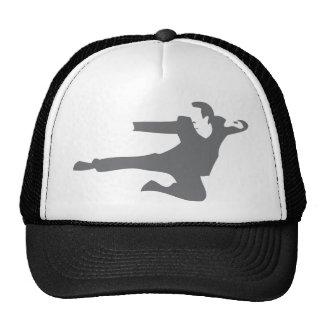 Flying Karate Kick Mesh Hats