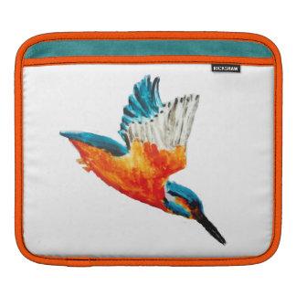 Flying Kingfisher art Sleeve For iPads