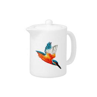 Flying Kingfisher Art Teapot