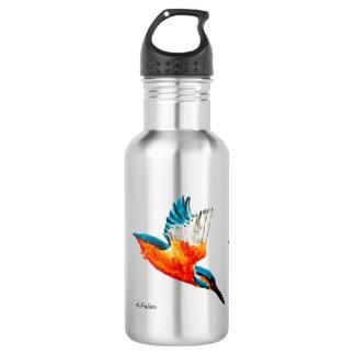 Flying Kingfisher Art Water Bottle