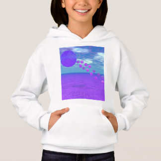 Flying Kite, Abstract Violet, Orchid, Rose, Purple Hoodie
