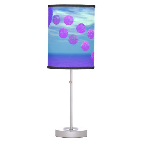 Flying Kite, Abstract Violet, Orchid, Rose, Purple Table Lamp