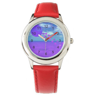 Flying Kite, Abstract Violet, Orchid, Rose, Purple Watches
